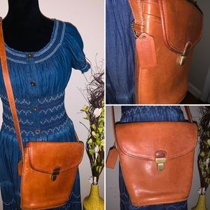 Vintage leather crossbody coach bag